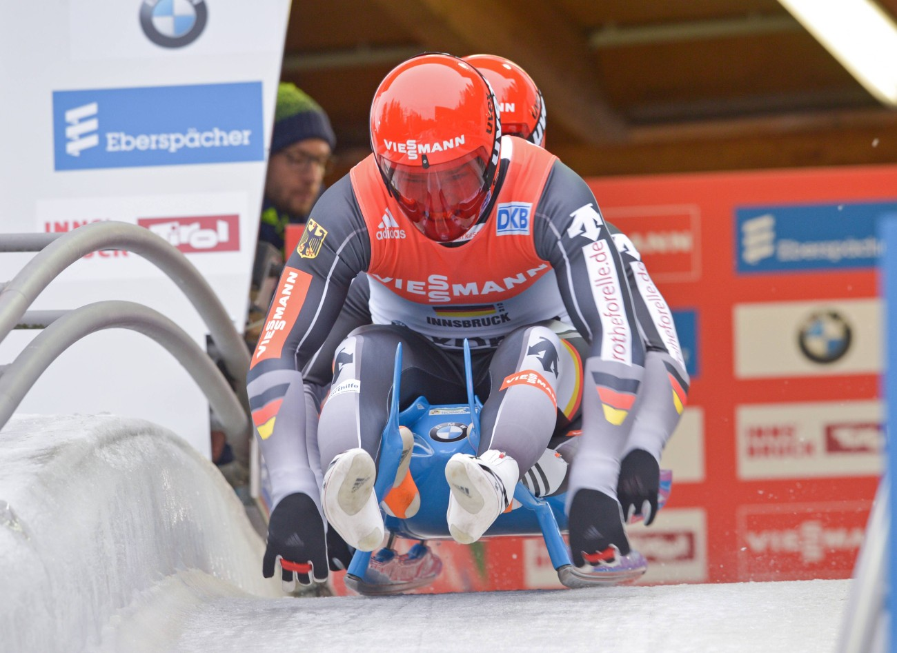 When lugers Eggert and Benecken race down ice-covered tracks, thyssenkrupp is right there with them