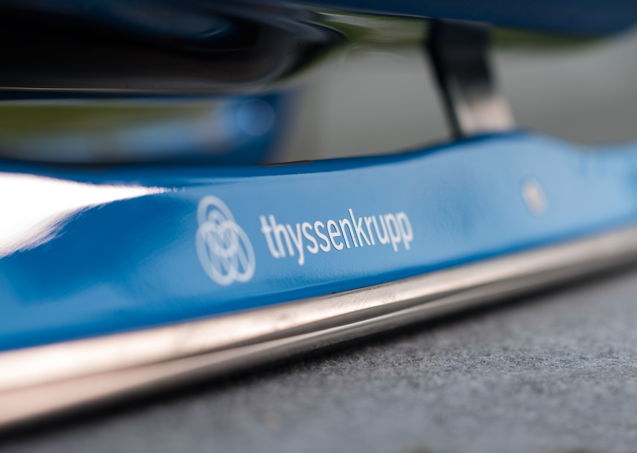 The luge's runners and racing pod were made by thyssenkrupp Presta Camshafts