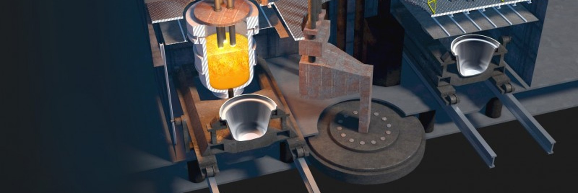 Molten metal from the furnace | Kundenmagazin thyssenkrupp Steel Europe