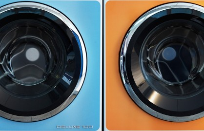 Retro look of washing machines