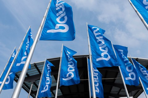 The flags for the bauma