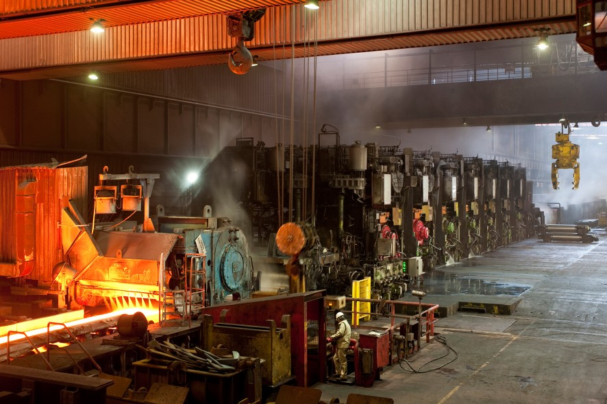 Hot strip mill 2 in Duisburg-Beeckerwerth Press ThyssenKrupp Steel Europe