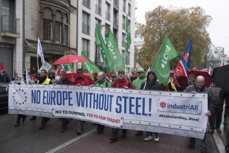 industriAll (the European Trade Union), has organised a march by around 15,000 steel workers in Brussels