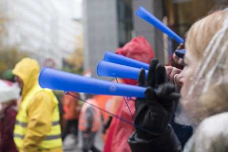 industriAll (the European Trade Union), has organised a march by around 15,000 steel workers in Brussels.