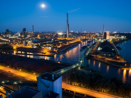 Duisburg at night