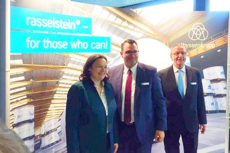 "The meeting of the G20 Labor Ministers with Andrea Nahles was under the motto ""For a fair and social future"". The Federal Minister of Labor had invited to thyssenkrupp to introduce her concept of ""Dual Education"" to her international colleagues."