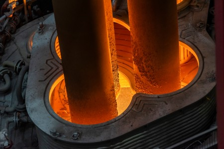 New ladle furnace at Duisburg steel mill: 80 million investment in quality and technology.