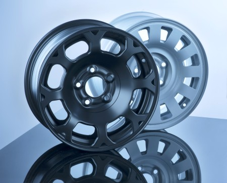 Lightweight and steel design wheels. Here as a result of thyssenkrupps InCar plus project.