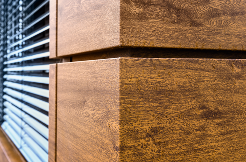 With pladur® Relief Wood, the headquarters building is just as eye-catching as the vehicles designed by the company.