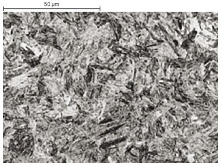 Microstructure after press hardening: Martensite