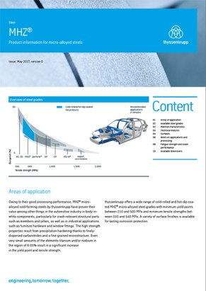 MHZ® - Product information for micro-alloyed steels