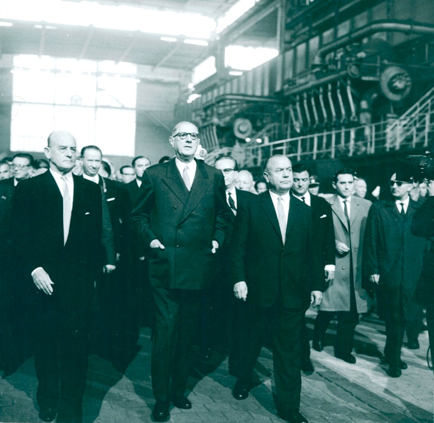 Visit by Charles de Gaulle Highlights History Corporation ThyssenKrupp Steel Europe