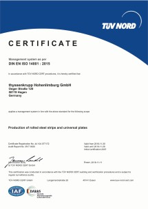Environmental Management acc.to DIN EN ISO 14001